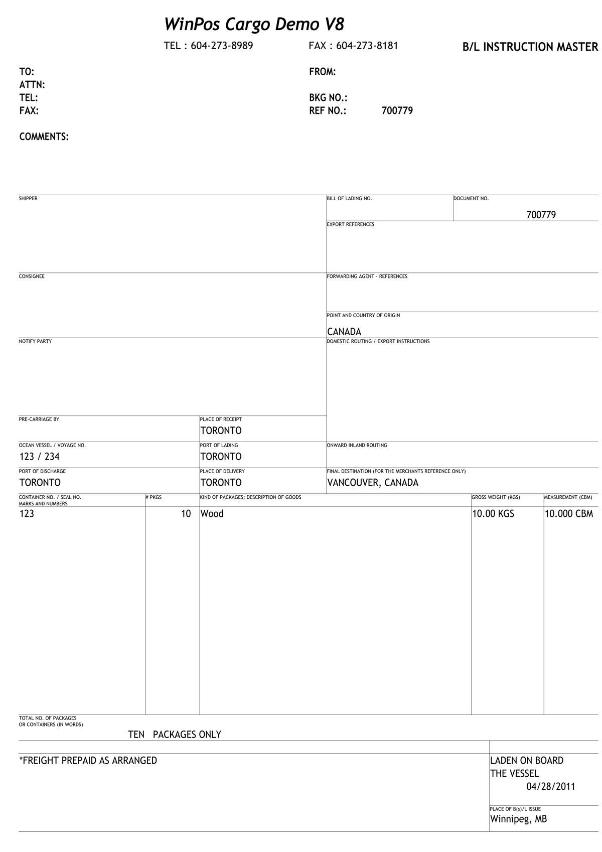 Aptus Systems Inc. | Freight Forwarding Demos